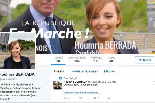 Le compte Twitter de la candidate.