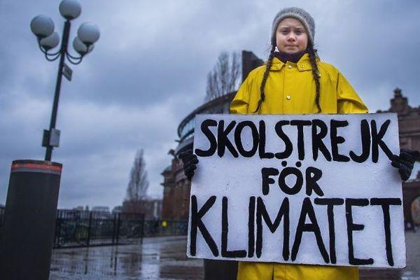 Greta Thunberg à Stockholm (Suède) le 30 novembre 2018