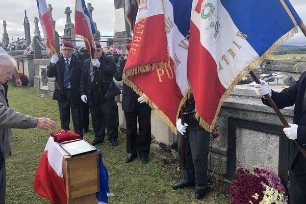 Le poilu Auguste Sabatier a été inhumé à Saugues en Haute-Loire un siècle après sa mort.