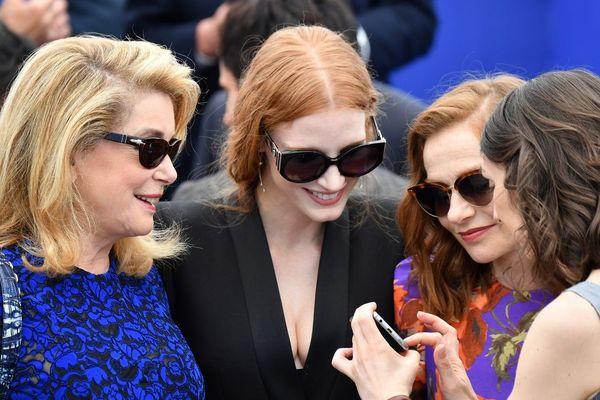 Festival de Cannes 2017 / de gauche à droite : Catherine Deneuve, Jessica Chastain et Isabelle Huppert.
