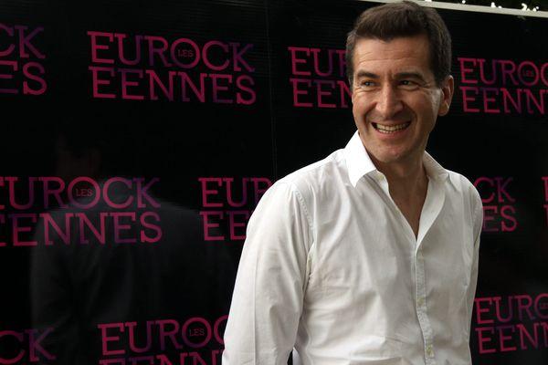 Matthieu Pigasse, lors de la conférence de presse aux Eurockéennes de Belfort.