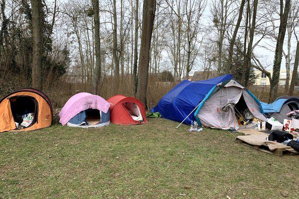 Le camp du Parc Saint-John-Perse à Reims, a été démantelé deux fois en quelques semaines.