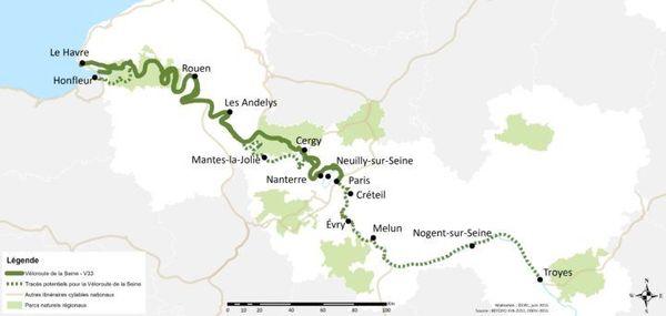 Le projet Seine à Vélo, soit 440 kilomètres de sentiers aménagés pour les cyclistes, est censé voir le jour dès 2020.
