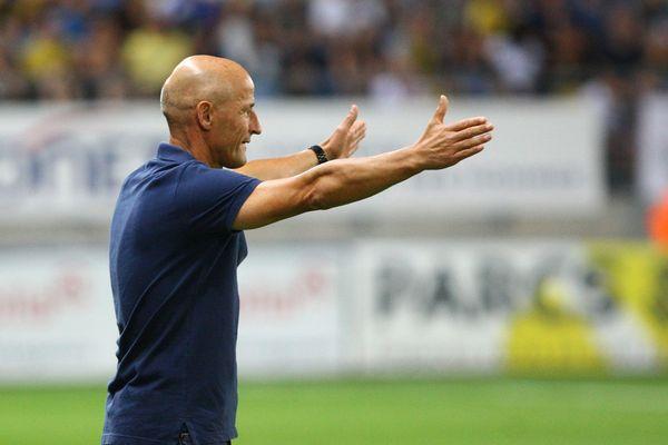Peter Zeidler, entraîneur du Fc Sochaux lors de la 5eme journée du championnat de France de Ligue 2.