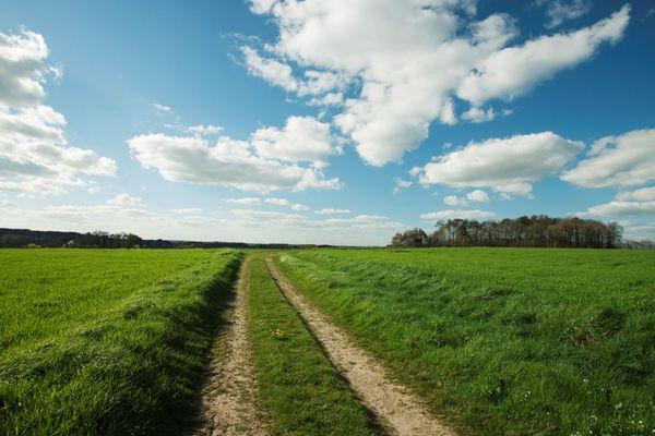 Paysage rural en Bretagne