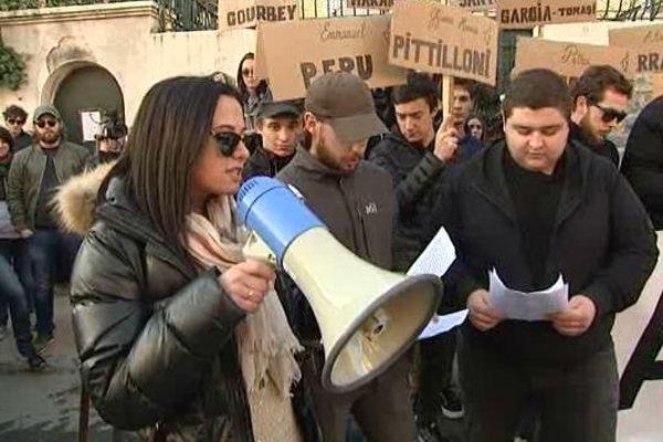 Manifestation pour l'amnistie des militants nationalistes détenus, le 3 février 2016, à Corte (Haute-Corse)