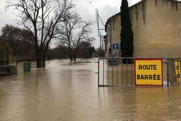 Routes coupées, trains supprimés, écoles fermées dans l'Aude et les Pyrénées-Orientales après le passage de la tempête Gloria les 22 et 23 janvier 2020.