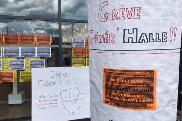 Les salariés de La Halle en grève comme ici à Vesoul
