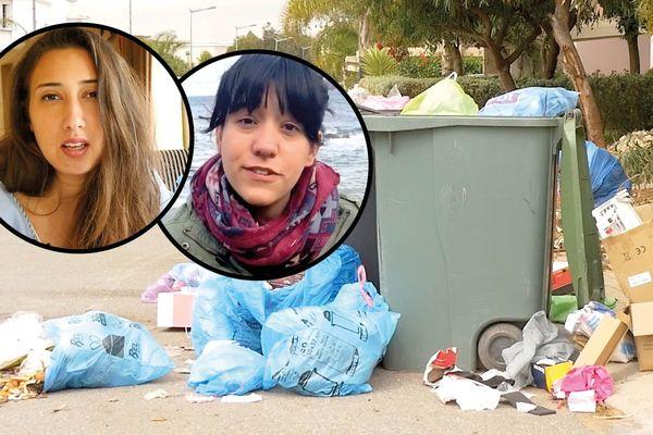 Maha et Noelia ont vidé leurs poubelles à Toulon et à Casablanca. Elles ne sont pas bonnes élèves en matière de tri, mais veulent faire des efforts.