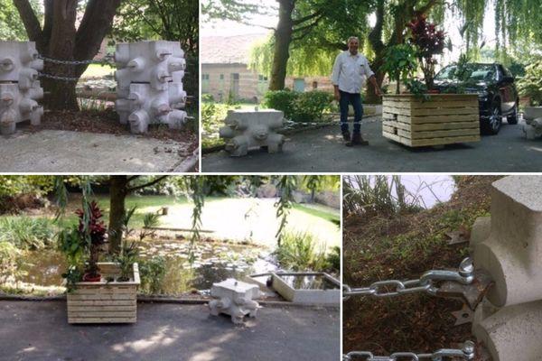 Jean-Jacques Lavoine a créé un nouveau genre de bloc en béton, chez lui à Borre.