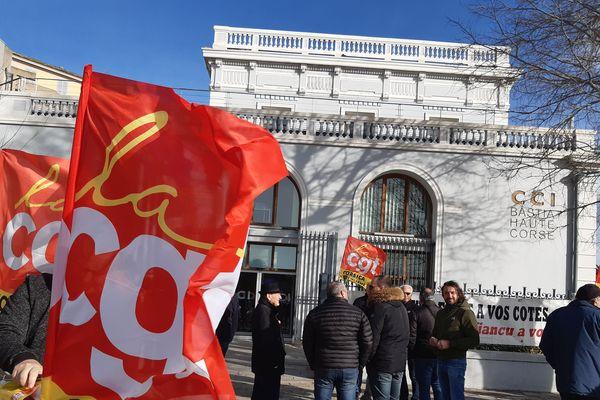 Une nouvelle mobilisation avait lieu ce mercredi 29 janvier à Bastia, à l'appel de la CGT et de la FSU.