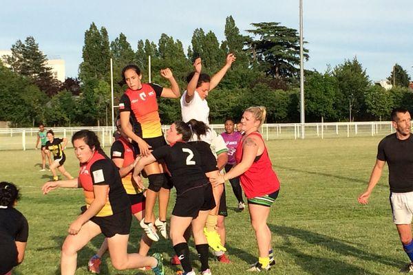 Entrainement commun avec les filles de l'US Orléans et des garçons de différents clubs du Loiret