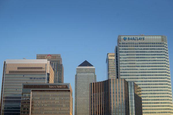 Le quartier d'affaires de Canary Wharf à Londres, où siègent plusieurs grands groupes bancaires.