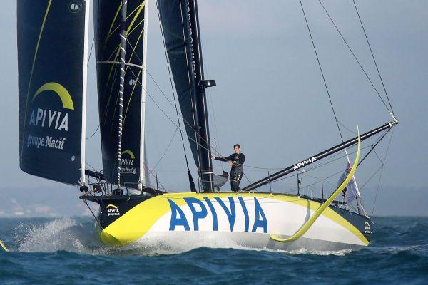 Le Havrais Charlie Dalin, skipper d'Apivia, au départ du Vendée Globe 2020