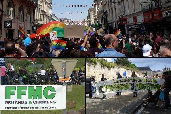 Ce samedi 25 mai à Caen, c'était jour de manifestations