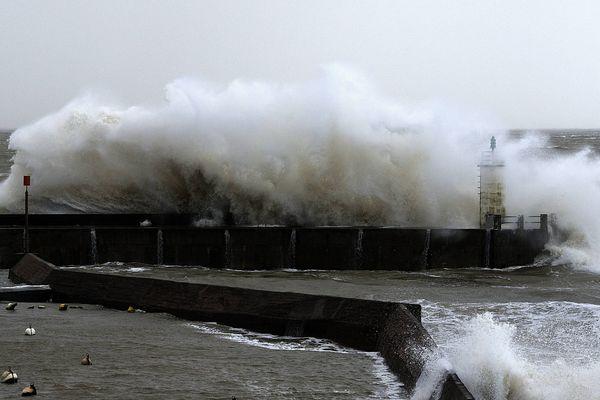 La tempête Inès attendue en Normandie jeudi 13 février 2020. (Image Archives tempête, Tharon)