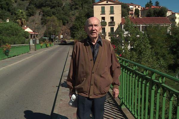 Jeannot Pi avait 11 ans en 1940 quand le Tech est sorti de son lit et a dévasté toute la commune d'Amélie-les-Bains dans les Pyrénées-Orientales.