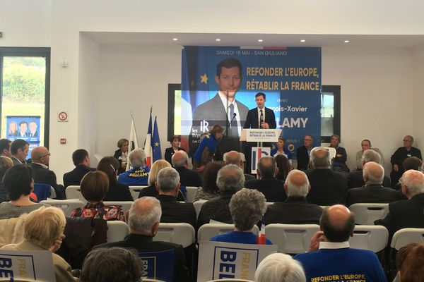 Réunion publique à San Giuliano ce matin pour François-Xavier Bellamy