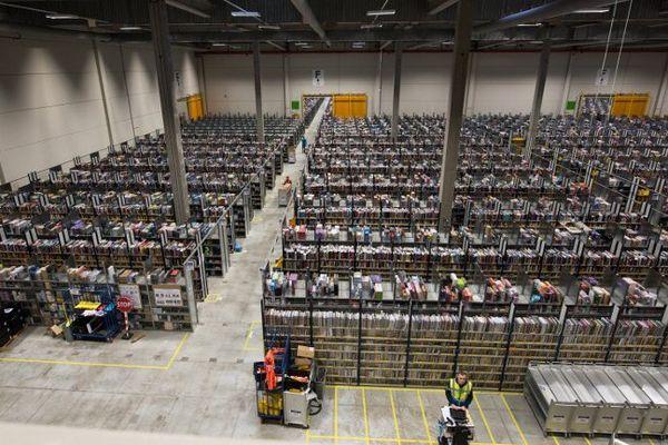 Le site Amazon à Lauwin-Planque.