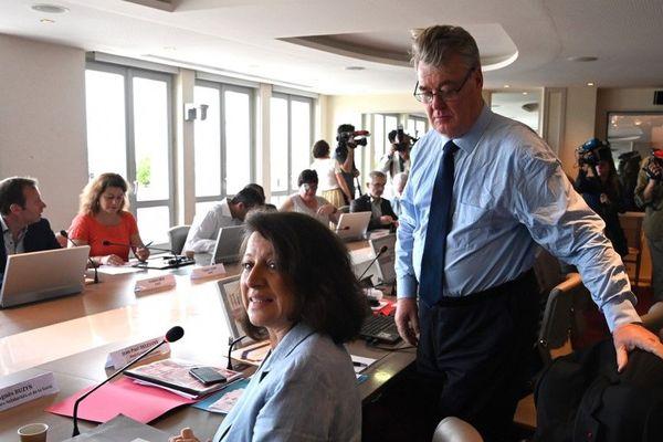 Jean-Paul Delevoye et la ministre de la Santé et des Solidarités Agnès Buzyn ce jeudi avec les syndicats et les organisations patronales.