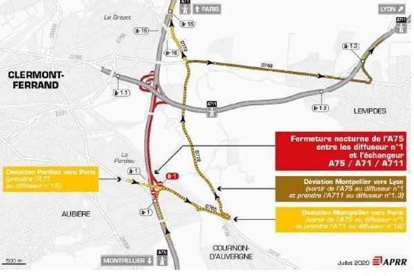 Une fermeture est prévue sur l'A75 le jeudi 23 juillet.