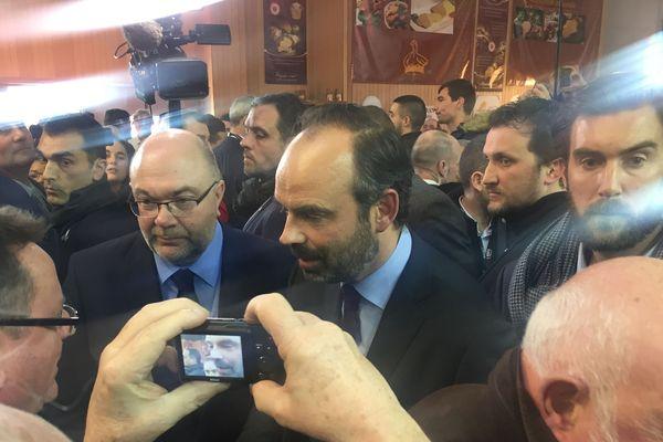 Edouard Philippe en déplacement au Salon de l'Agriculture en tant que Premier ministre.