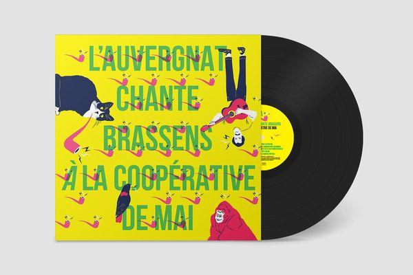 """Couverture de l'album """"L'Auvergnat chante Brassens"""""""