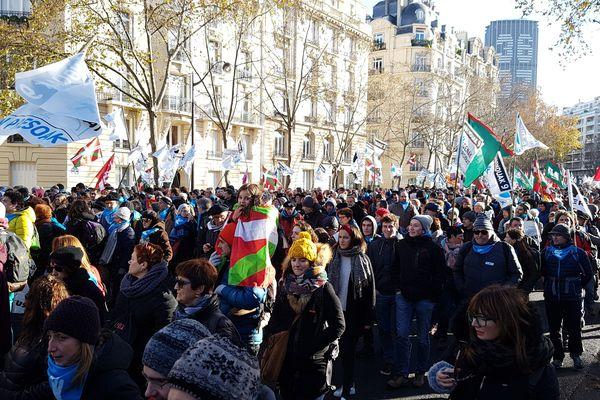 Le 9 décembre, des manifestants se sont rassemblés à Paris pour dénoncer le sort réservé aux prisonniers basques