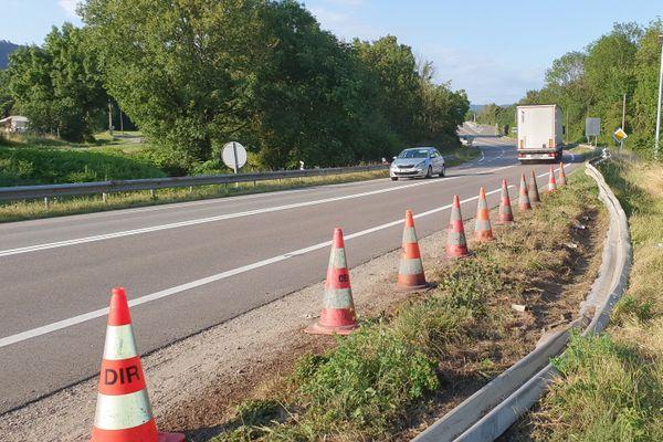 L'accident a eu lieu sur la RN83 à hauteur de Poligny, ce lundi 17 août.