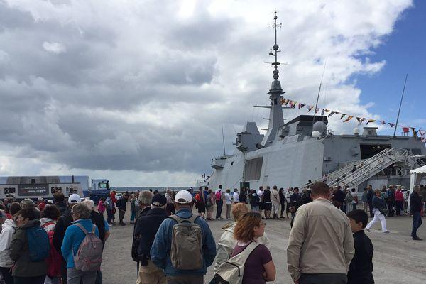 La frégate Aquitaine sur les quais de Brest 2016