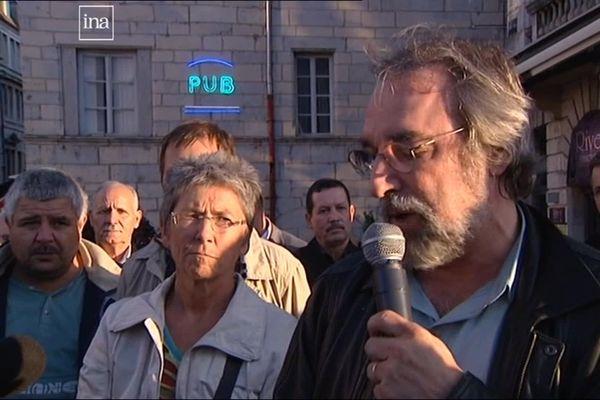 Jean-Jacques Boy lors du rassemblement de 2011 en mémoire du 17 octobre 1961