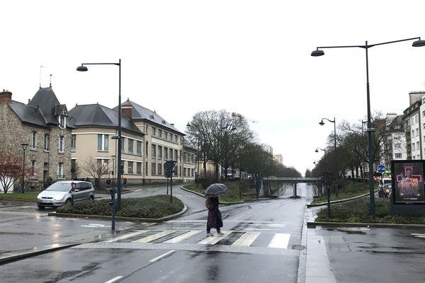 Passage piéton du passage de la Chapelle-Boby au niveau du pont de Châteaudun, lieu de l'accident - Rennes