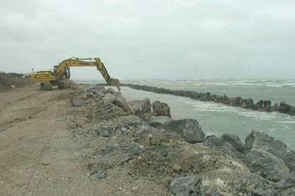Les travaux de réfection de la digue dureront jusqu'en 2018