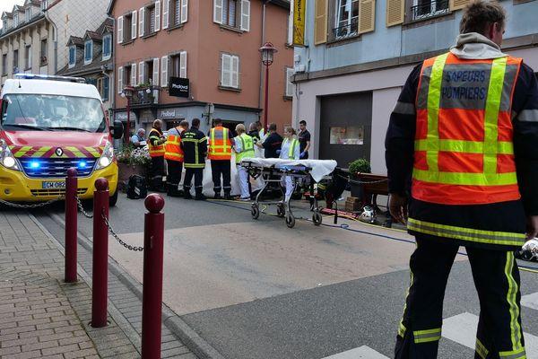 Un automobiliste a fauché cinq personnes ce samedi matin à Munster à la suite d'une erreur de conduite.