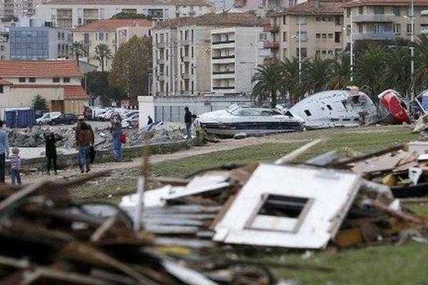 Les ravages de la tempête Adrian, deux jours après son passage à Ajaccio, le 31 octobre 2018.