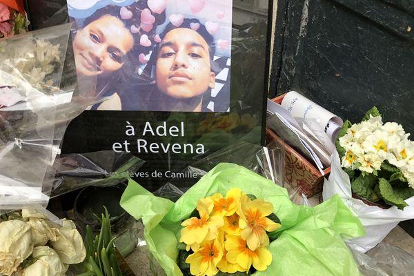 Hommage à deux victimes de l'incendie rue Erlanger (Paris XVIe) qui a eu lieu le dans la nuit du 4 au 5 février 2019.