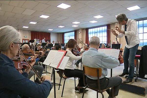 Le Philharmonique de Besançon en répétition