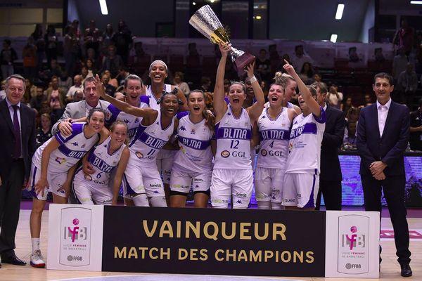 """Les Gazelles de Lattes-Montpellier se sont imposées face à Bourges lors du """"match des champions"""" à Paris - 1er octobre 2016"""
