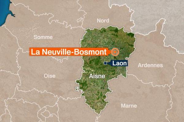 L'accident s'est produit sur le territoire de la Neuville-Bosmont, dans l'Aisne.