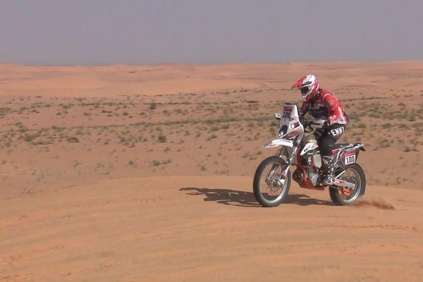Audrey Rossat participait à son premier Dakar