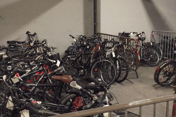 Des centaines de vélos volés sont entreposés au commissariat central de Bordeaux