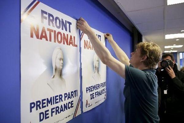 La soirée électorale du Front national pour les élections européennes du 25 mai 2014 à Nanterre