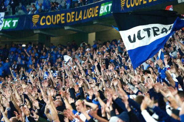 Plus de 25.000 supporters strasbourgeois dans les tribunes du stade Pierre-Mauroy.