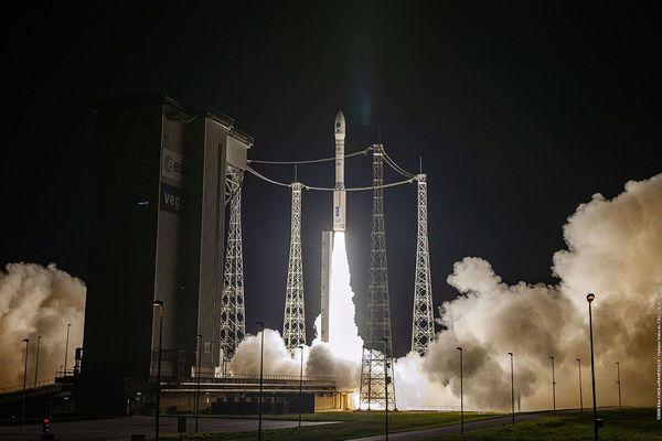 La fusée Vega a décollé depuis le centre spatial de Kourou, en Guyane française, dans la nuit du 2 au 3 septembre.