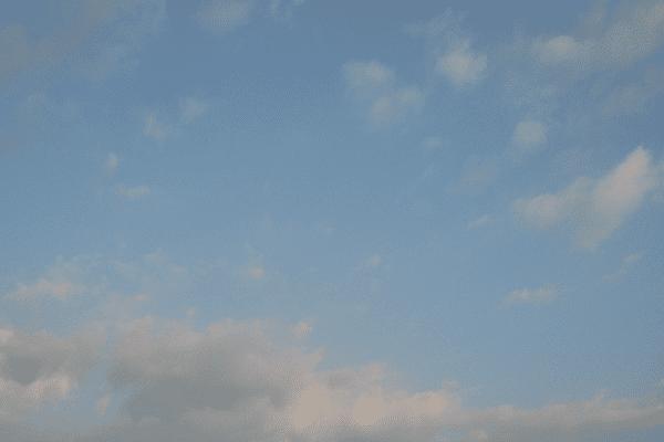 Le ciel du Nord le 3 juillet 7h15