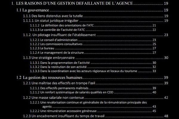 Avril 2018 - La chambre régionale des comptes (CRC) de Corse dresse un tableau accablant de la gestion de l'agence du tourisme de la Corse (ATC)