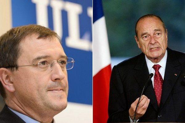 Alain Delchambre (à gauche) a repris mot pour mot un discours de 2003 prononcé par Jacques Chirac.