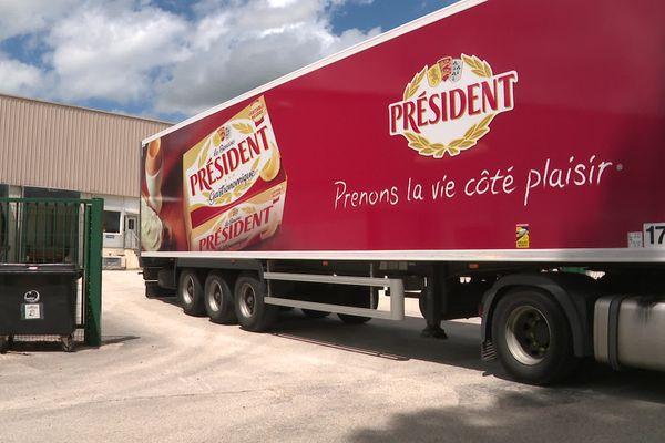 La société Président installée à Vercel, dans le Doubs.