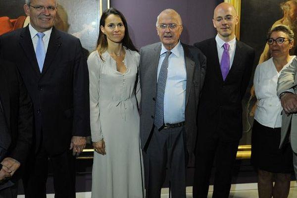Philippe Leroy, né en 1940 à Lille, au centre de la photo. Ici à côté d'Aurélie Filippetti, ministre de la culture.