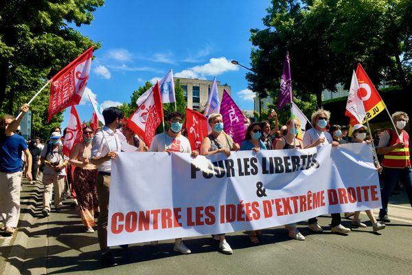 750 personnes se sont réunies à Angers pour la Marche des libertés
